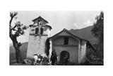 Abancay  Peru Bingham's Prefect and His Aide Outside a Small Chapel on Horseback
