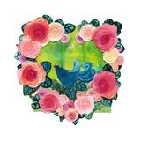 Bluebird  Pink Heart