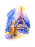 Dogs with Eiffel Tower  2016
