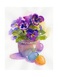 Pansies with Easter Eggs  2014