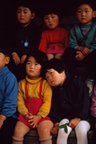 Futagami Jima Island  Japan Japanese Children Listening Intently at Story Hour in Kindergarten