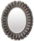 Ruffled Oval Mirror