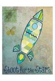 Vintage Space 1 Reproduction d'art par Melody Hogan