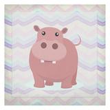 Pink Hippo Time Reproduction d'art par Kimberly Allen