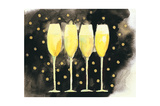 Bubbly Fun Black and Gold