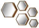 Hexagonal Beveled Mirror Set