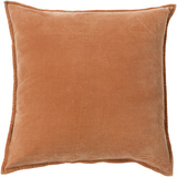 Cotton Velvet Down Fill Pillow - Rust