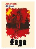 Fiji - American Airlines - Fijian Fire Dancers