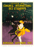Celebrations of the International Student Congress - Bordeaux  France - September 1907