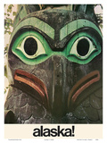 Alaska - Native Aleut Eagle Totem