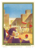 Le Maroc Par Marseille (Morocco by Marseille) - The Sultan Going to the Mosque of Fez