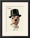 Dog in Top Hat Smoking a Cigar