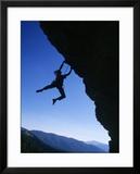 Man Holding Onto Rock  Domelands Wilderness  CA
