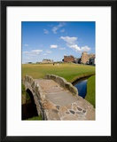 Golfing the Swilcan Bridge on the 18th Hole  St Andrews Golf Course  Scotland