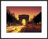 Paris  France  Arc De Triomphe at Night