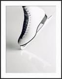 Black and White Image of Figure Skater's Skate