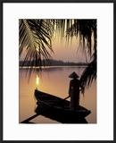 Evening View on the Mekong River  Mekong Delta  Vietnam
