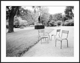 Luxembourg Gardens Statue of Liberty and Park Chairs  Paris  France