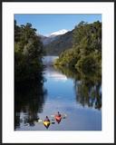 Kayaks  Moeraki River by Lake Moeraki  West Coast  South Island  New Zealand
