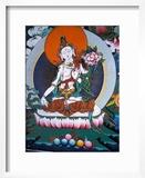 White Tara from Monastery Wall  Lhasa  Tibet