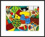 Detail of Llort Painting  Fernando Llort Gallery  San Salvador  El Salvador