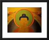 Buddha on a Thanka Painting  Tibet
