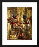 Gold Throne Depicting Tutankhamun and Wife  Egypt