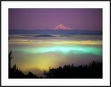 Willamette River Valley in a Fog Cover  Portland  Oregon  USA
