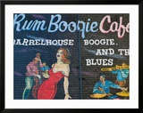 Rum Boogie Cafe  Wall Mural  Beale Street Entertainment Area  Memphis  Tennessee  USA