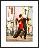 Tango Dancers on Caminito Avenue  La Boca District  Buenos Aires  Argentina