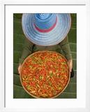 Farmer Selling Chilies  Isan region  Thailand
