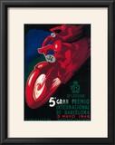 Barcelona  Spain - 5 Gran Premio International Motorcycle Poster