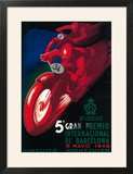 Barcelona  Spain - 5 Gran Premio International Motorcycle Poster