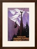 Chamonix-Mont Blanc  France - Funicular Railway to Brevent Mt