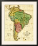 South America - Panoramic Map