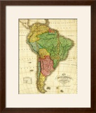 South America - Panoramic Map
