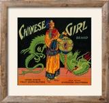 Chinese Girl Orange Label - Riverside  CA