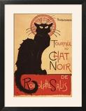 Montmarte  France - Chat Noir Cabaret Troupe Black Cat Promo Poster