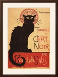 Montmarte  France - Chat Noir Cabaret Troupe Black Cat Promo Poster