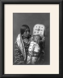 Mother and child Apsaroke Indian Edward Curtis Photograph