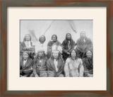 Lakota Indian Chiefs who Met General Miles to End Indian War Photograph - Pine Ridge  SD