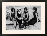 Four Women at the Beach Photograph - Atlantic City  NJ