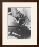 Howard Hughes Pilot Boarding Plane in Full Uniform Photograph - Newark  NJ