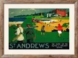 St Andrews Vintage Poster - Europe