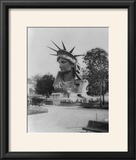 Head of Statue of Liberty in Paris Park Photograph - Paris  France