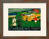 St Andrews Vintage Poster - Europe