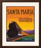 Santa Maria Vegetable Label - Santa Maria  CA