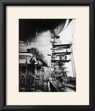 Ship Construction in Germany Photograph - Hamburg  Germany