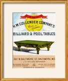 The HW Collender Company's World Renown Billiard and Pool Tables
