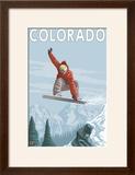 Colorado  Snowboarder Jumping